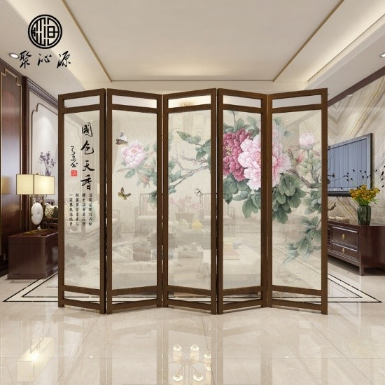 Image result for chinese folding screen in ancient room
